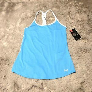 Under Armour Fly By Racerback Tank Top Fitted Blue